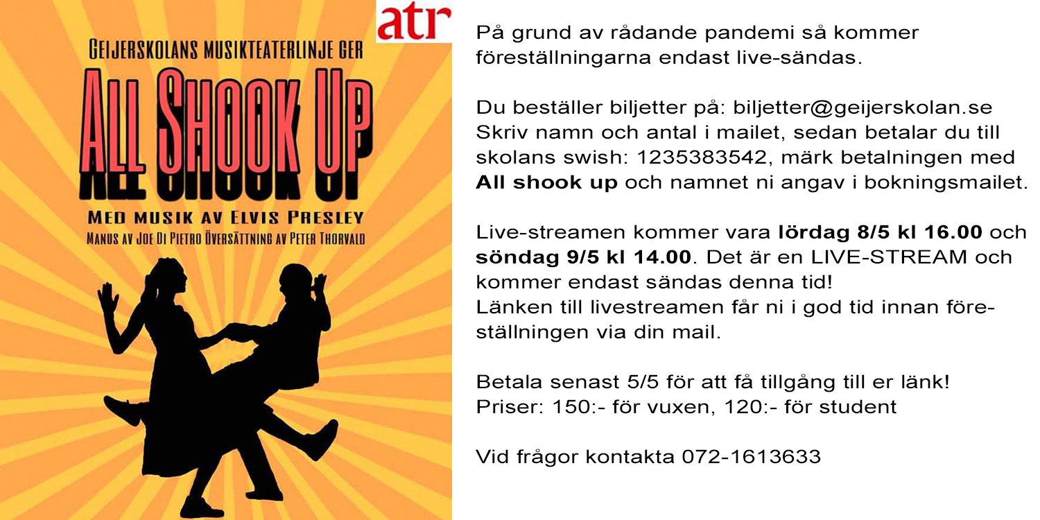 Affisch All Shook Up